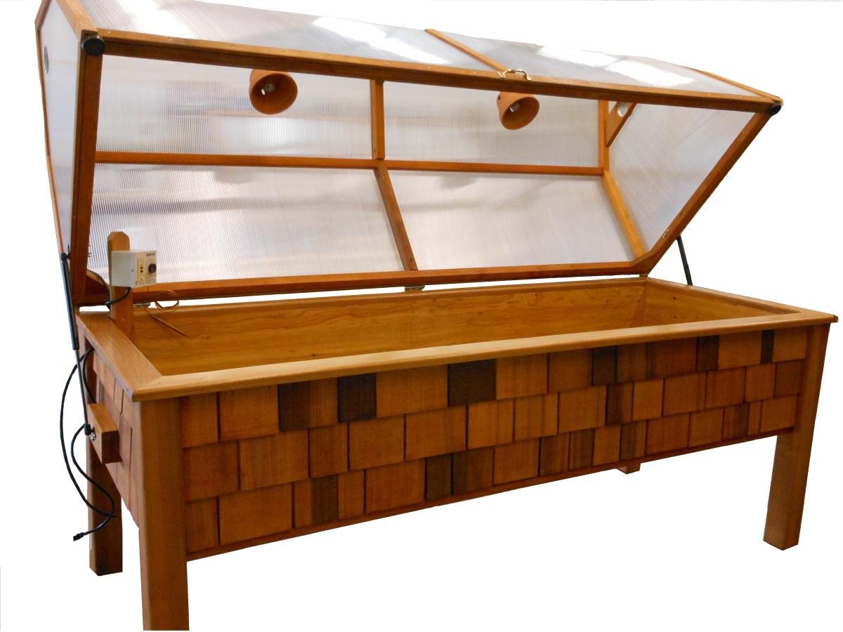 The little greenhouse year round waist high gardening - Waist high raised garden bed plans ...